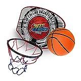takestop Mini TABELLONE CANESTRO 18cm + Palla Basket con Rete da Muro Parete Pallacanestro Bambini Sportivo Giocattolo Fantasia Casuale