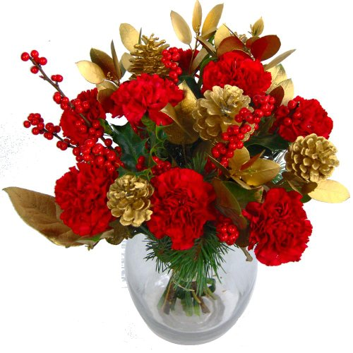 Clare Florist Christmas Cracker Bouquet of Fresh Christmas Flowers