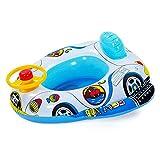 Branger Aufblasbarer Schwimmring Baby Kinderboot Aufblasbar Auto Nizza Baby Inflatable Auto-Entwurfs-sichere PVC-Schwimmhilfe mit Einem Horn-Spielzeug-Lenkrad