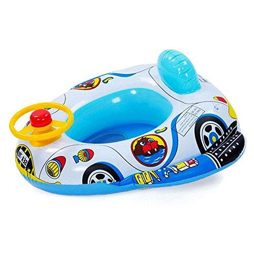 Branger gonfiabile mare bambino, bambini gonfiabili, un aiuto al nuoto in pvc sicuro per la sicurezza dell'auto con un volante giocattolo in corno
