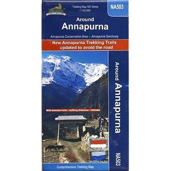 Carte de randonnée NA 503 le tour des Annapurnas échelle 1 :125.000