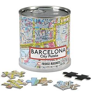 Extra Goods - Puzzle magnético Barcelona enlatado, 100 Piezas, 26 x 35 cm (Mapiberia 89600) (Fridge Magnets)