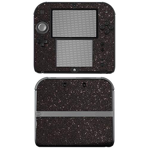 "Price comparison product image atFoliX Nintendo 2DS Skin ""FX-Glitter-Black-Sky"" Sticker Decal - Reflective glitter foil"