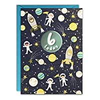 James Ellis - Age 6 Space Birthday Card - HC3147