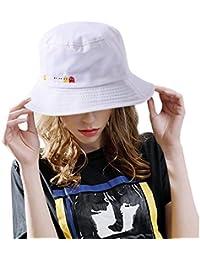 DORRISO Sombreros Visera Pescador Protección UV Turismo Playa Vacaciones  Mujer Visera Sombrero Algodón 8f6a4e40e286
