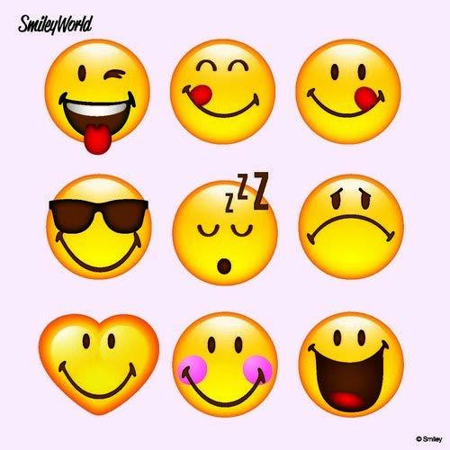 sten Emojis als Tischdeko mit Smileys für Kinder und Erwachsene 33x33cm ()