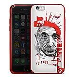Apple iPhone 6s Silikon Hülle Rot Case Schutzhülle Albert Einstein Zeichnung Art