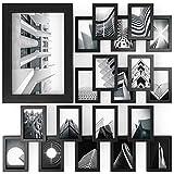 ARTEZA® Cadres Photo 10,2x15,2cm Pack de 20 Cadres - Cadre Finition Bois - Façade en Verre Pur - Cadres muraux pour Documents et certificats - Galerie Murale
