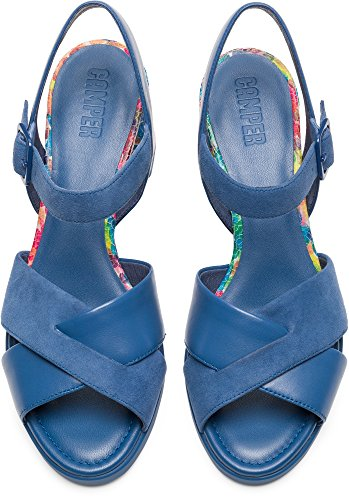 Camper Kara K200558-003 Chaussures Habillées Femme Bleu