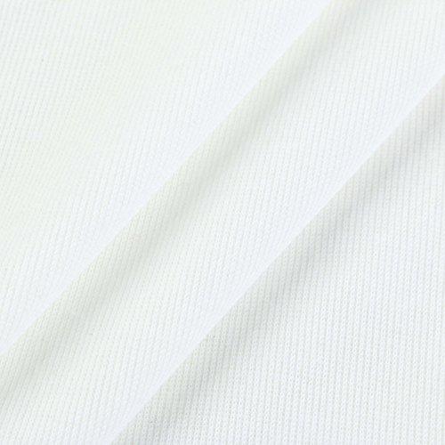 LEvifun Donna Elegante Maglietta Casual Manica Lunga Off Spalla Orlo Irregolare Camicia T-Shirt Pullover Tops Bluse Bianca bianca