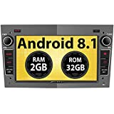 Pumpkin Android 8.1 Autoradio Moniceiver für Opel Astra Corsa Zafira mit Navi Unterstützt Bluetooth DAB+ Android Auto WLAN 4G USB MicroSD 2 Din 7 Zoll Bildschrim