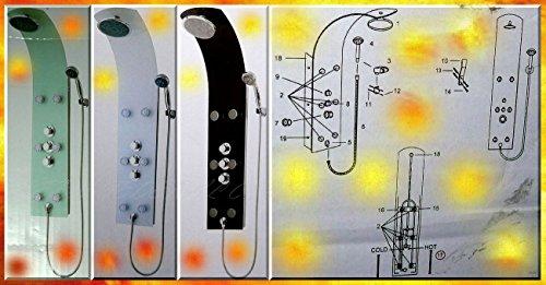 Mixomat SYLT Ersatz Glas Duschsäule Regendusche Thermostat Weiß