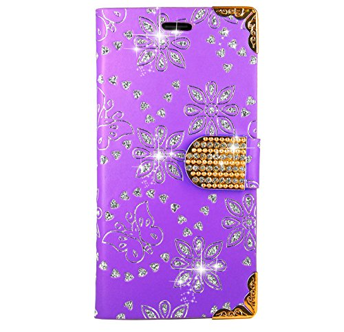 Samsung Galaxy S8 Handy Tasche, FoneExpert® Bling Luxus Diamant Wallet Case Flip Cover Hüllen Etui Hülle Ledertasche Lederhülle Schutzhülle Für Samsung Galaxy S8