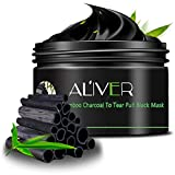 Face Cleansing Mask Blackhead Removing Activated Charcoal Peel Off Mask Anti-Aging Exfoliator 100ml in Jar