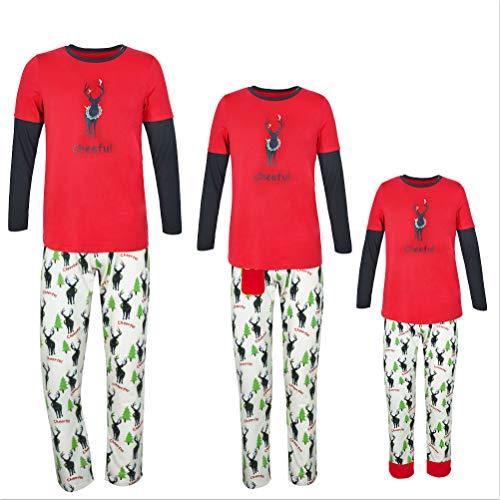 Weihnachts-Home-Service-Anzug Elch drucken Pyjamas Weihnachten Hirsch Pyjamas Xmas Pyjamas,Men,S (Christmas Mens Anzug)