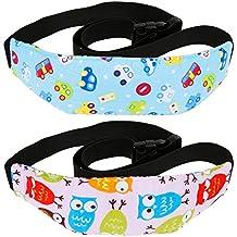 Rovtop 2 pza Soporte Cabeza Sujeta Cabezas Coche para Niños Fijación de la Correa de Seguridad posicionador la Cabeza