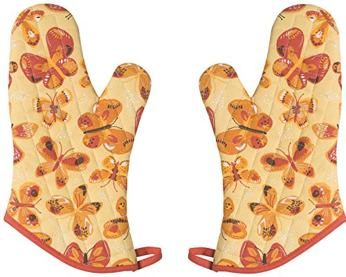 Now Designs Basic Oven Mitts, Set of Two, Fly by -