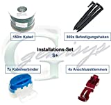 Installations-Set S+ Worx Landroid WR1* Kabel Haken Verbinder Installation Paket