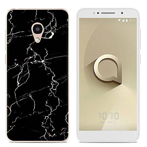 Easbuy Handy Hülle Soft TPU Silikon Case Etui Tasche für Alcatel 1 X 5059A 5059D 5059I 5059T 5059J 5059 X 5059Y Smartphone Bumper Cover Handytasche Handyhülle Schutzhülle