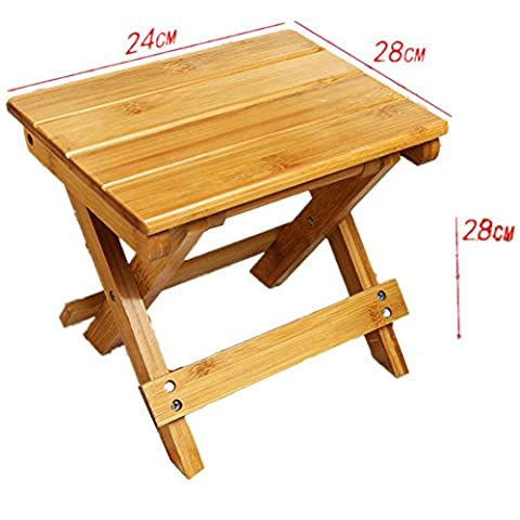 Solid wood outdoor folding stool fishing stool creative home children small bench chair , 2