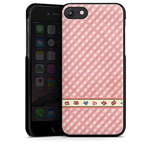 Apple iPhone X Silikon Hülle Case Schutzhülle Karo Mädchen Oktoberfest Hard Case schwarz