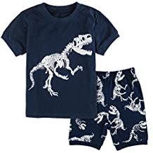 6a80373dcb Mombebe Infantil Pijamas Niño Dinosaurio Manga Corta Pyjamas Set