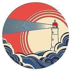 Wandtattoo Meer mit Nostalgie Leuchtturm Wandsticker maritime Dekoration
