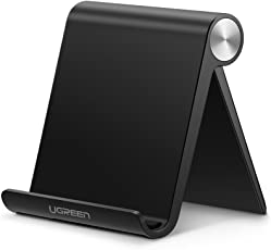 UGREEN Premium Multi Angle Mobile Stand. Phone Holder for iPhone, Android, Samsung, OnePlus, Xiaomi(Black)