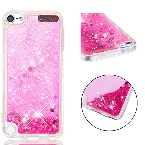 Wubaouk iPod Touch 7 Hülle Glitter Liquid Crystal Gradient Quicksand Girls Soft TPU Bumper Silicone Protective Shockproof Cover for iPod Touch 6/5 (Kids Case Ipod Touch Soft)