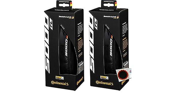 2x Continental GrandPrix 5000 Tubeless Falt 28x1,0Zoll 25-622mm 700x25C Rennrad