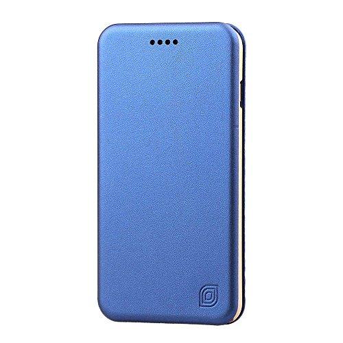 """MOONCASE iPhone 6S Coque, UltraSlim Housse en Cuir Premium Etui à rabat pour iPhone 6 6S 4.7"""" Bookstyle de Protection Porte-cartes Case Rose Bleu"""