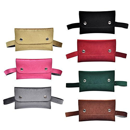 Everpert Women Velvet Shoulder Waist Packs Bum Casual Belt Fanny Handbag Phone Pouch