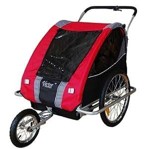 Jogger Remorque à Vélo 2 en 1, 1 à 2 enfants - Rouge 31308-01