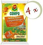 Oleanderhof® Sparset: 4 x COMPO Herbst Rasendünger mit Langzeitwirkung, 10 kg + gratis Oleanderhof Flyer