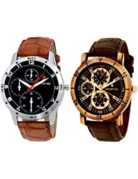 Golden Bell Original Chronograph Look Combo Of 2 Analog Wrist Watches For Men - GB-482