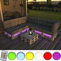 LED Streifen für Palettenmöbel Palettensofa Palette Couch sofa