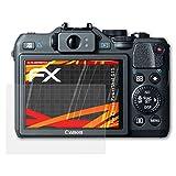 atFoliX Folie für Canon PowerShot G15 Displayschutzfolie - 3 x FX-Antireflex-HD hochauflösende entspiegelnde Schutzfolie