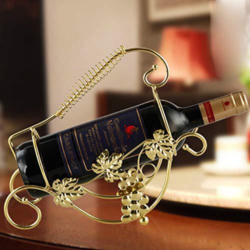Traube Eisen (YuLinStyle Eisen Dekoration Weinregal Trauben Halterung Mode Handwerk Weinschrank Dekoration Hauptdekorationen Dekorationen (Farbe : Metallic))
