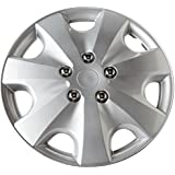 Walser Precious 15337 4-Piece Set of Wheel Trims 16 Inches High-Gloss Chrome Silver