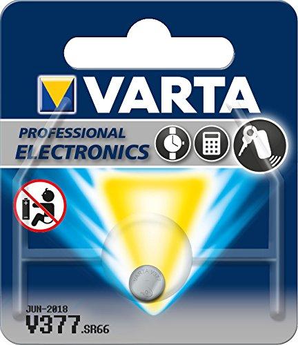Varta 14501377 silberoxid Knopfzelle (V377, 1er Pack) (Euro-flat Sheet)