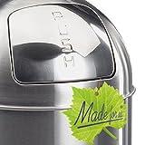 52 L Edelstahl Retro PUSH-Abfalleimer 30er-Jahre Mülleimer nostalgie Küchen-Mülleimer 52 Liter Abfall-Behälter für Gelber-Sack Kompost Rest-Müll original Made for us