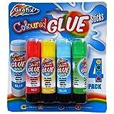 Barras de Pegamento de los Niños de Color - Paquete de 4 Colores - por Grafix