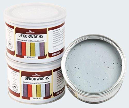 Borma DEKORWACHS 500 GRAMM; Kalkwachs in 7 tolle Pastellfarben (Grau)