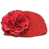 "coromose Baby Boy's Flower Toddlers Lace Hair B Headb Headwear Hat Size: hat Around 36-48cm/14.2""-18.9"" Red"