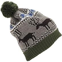Gorro con borla Modelo Reindeer Diseño Navideño Hombre caballero 563a65b239c