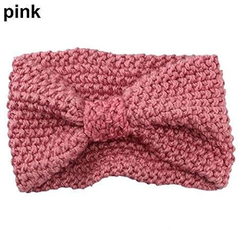 1 PC Femmes Lady Crochet Bow Turban tricoté tête Wrap Hairband oreille hiver chaud Bandeau bande Accessoires cheveux