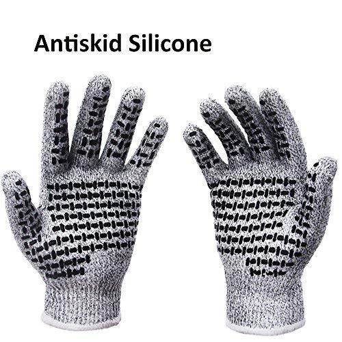 SStaste Schnittfest Handschuhe Rutschfeste Arbeitshandschuhe High Performance Schutz Sicherheit Handschuh für Garten, der Home DIY