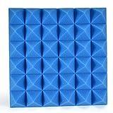Akustikschaumstoff Bloomma Pyramiden Akustik Schaumstoff Dämmung Platten DIY Schallschutz Schaum Pyramiden 30 * 30 * 5cm-blau