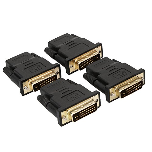 Macho a HDMI Demiawaking DVI-D 24 + 1 Pin Macho a HDMI Hembra M-F Adaptador Convertidor Para HDTV LCD Monit
