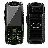 Guophone A6 wasserdichte Telefon lange Standby-Handy-Kamera ohne vertrag outdoor klein gps senioren günstig neu, doro große tasten seniorenhandy gross für whatsapp buch (Green)
